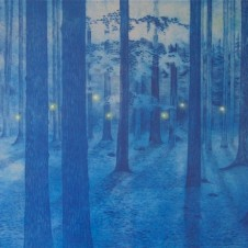 Midnight Forest  Midnight Forest (Used for Coldplay's  Ghost Stories LP) Etching 45 x 70 cm Edition of 25  Price on application  Available now. To buy this artwork or for more information please email:  art@albumartists.co.uk