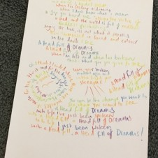 A Head Full of Dreams - Original Lyrics  Handwritten lyric by Chris Martin  29.7 x 42.0cm, (11.69 x 16.53 inches) Unique Sold
