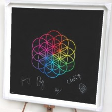 Flower of LifeHigh End Giclee Print (Giclee prints are fine art digital prints made using Inkjets)   Signed by Coldplay and Pilar Zeta   Limited Edition of 50   80 x 80 cm (31.4 x 31.4 inches) UNFRAMED   Price on application For more information please email: art@albumartists.co.uk