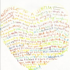Adventure of a Lifetime - Original Lyrics Handwritten lyric by Chris Martin The Actual lyric used on the AHFOD album art 29.7 x 42.0cm, (11.69 x 16.53 inches) Unique Sold