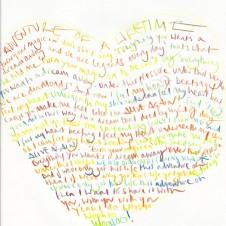 Adventure of a Lifetime - Original Lyrics Handwritten lyric by Chris Martin The Actual lyric used on the AHFOD album art 29.7 x 42.0cm, (11.69 x 16.53 inches) Unique Sold