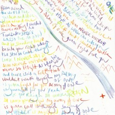 Army of One - Original LyricsHandwritten lyric by Chris Martin The Actual lyric used on the AHFOD album art 29.7 x 42.0cm, (11.69 x 16.53 inches) Unique Sold