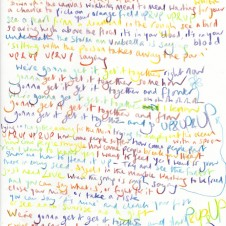Up & Up - Original LyricsHandwritten lyric by Chris Martin The Actual lyric used on the AHFOD album art 29.7 x 42.0cm, (11.69 x 16.53 inches) Unique Sold